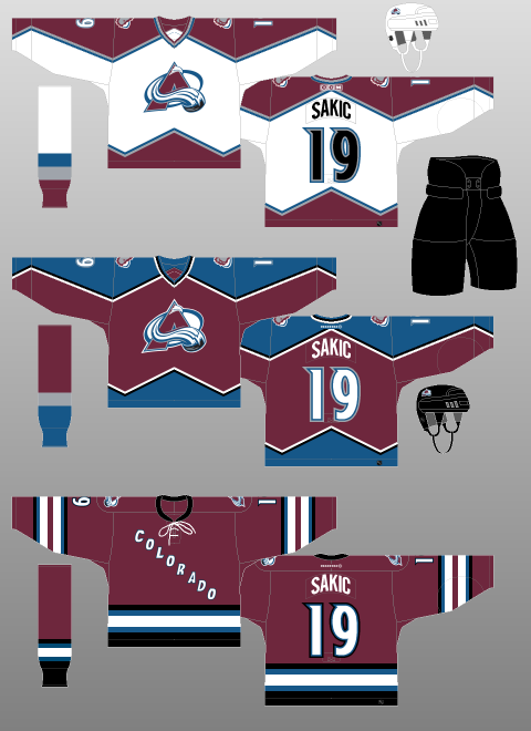 on sale 6a701 64497 Colorado Avalanche 2001-07 - The (unofficial) NHL Uniform ...