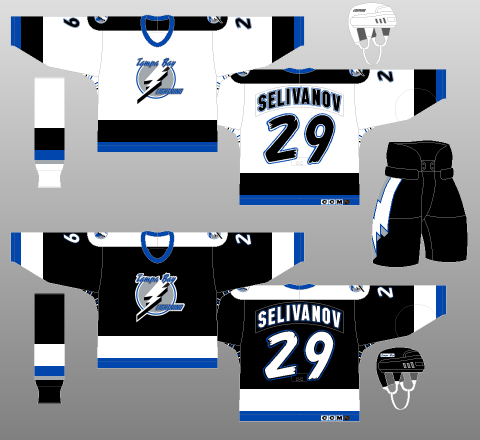 finest selection c25de eef09 Worst to first; Tampa Bay Lightning jerseys ranked by Hockey ...