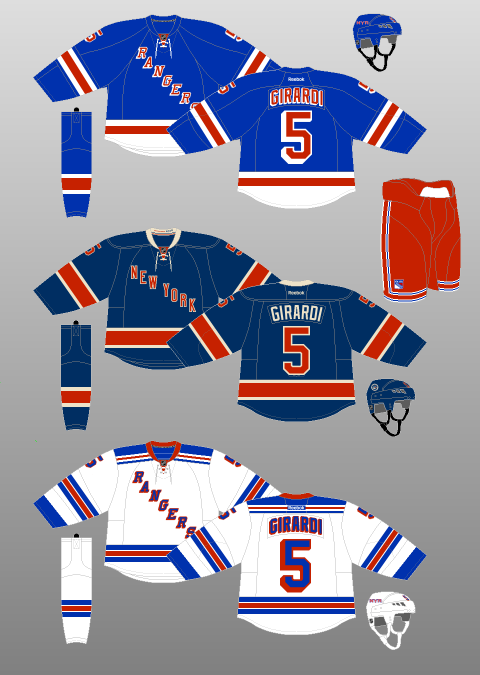 pretty nice 625e2 9f388 New York Rangers 2010-17 - The (unofficial) NHL Uniform Database