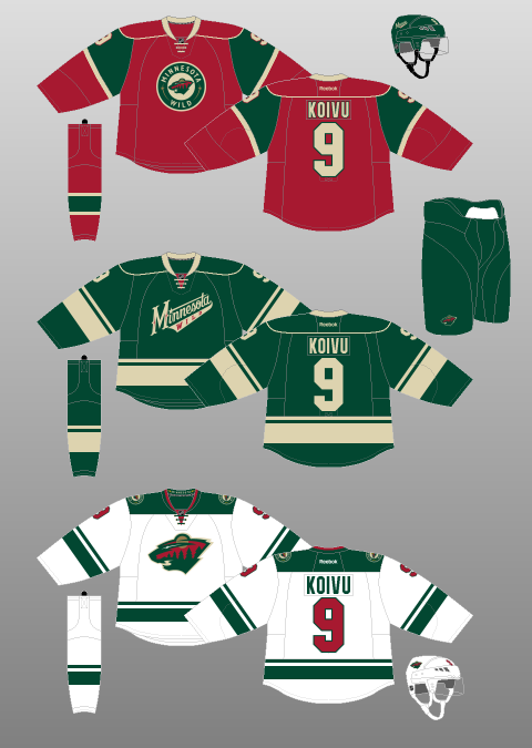 new style 5d104 27a2c HbD Breakdown: Minnesota Wild Home Jerseys | Hockey By Design